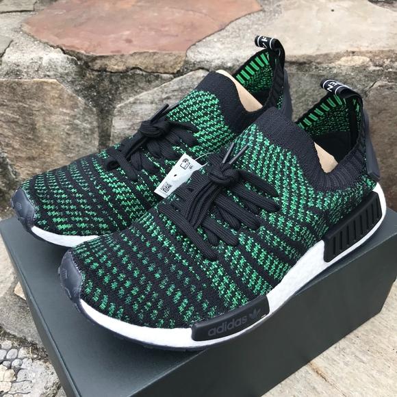 10a2bdb0c9cd Adidas Green NMD R1 STLT PK Sz 9